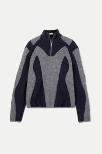 GmbH - Atrisia Two-tone Paneled Wool-felt Sweater - Gray