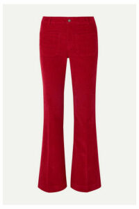 Vanessa Bruno - Dompay Stretch-cotton Corduroy Wide-leg Pants - Red
