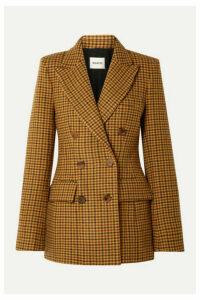 Khaite - Darla Checked Wool Blazer - Yellow