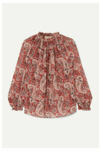Vanessa Bruno - Meyer Printed Metallic Fil Coupé Voile Blouse - Red