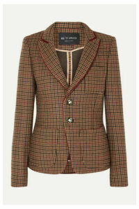 Etro - Houndstooth Wool-blend Blazer - Light brown