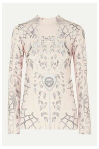 GmbH - Ada Printed Tech-jersey Top - Beige