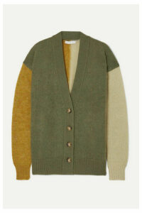 REJINA PYO - Murphy Color-block Mohair-blend Cardigan - Army green