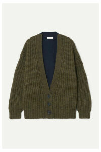 See By Chloé - Two-tone Knitted Cardigan - Navy