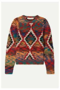 Vanessa Bruno - Morgane Jacquard-knit Sweater - Red