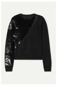RtA - Teagan Cutout Sequined Modal-blend Sweater - Black