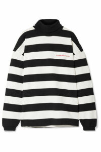 Alexander Wang - Chynatown Oversized Striped Cotton Turtleneck Sweatshirt - Black
