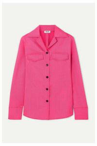 KENZO - Wool-blend Gabardine Shirt - Fuchsia