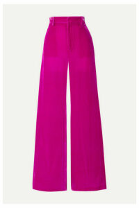 Les Rêveries - Velvet Wide-leg Pants - Magenta