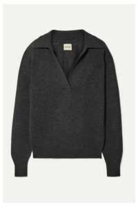 Khaite - Jo Cashmere-blend Sweater - Dark gray