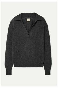 Khaite - Jo Cashmere-blend Sweater - Dark gray