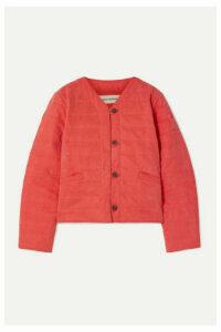 Mara Hoffman - Gina Quilted Tencel And Organic Cotton-blend Jacket - Papaya