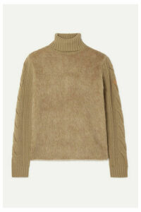Max Mara - Formia Paneled Wool-blend And Knitted Turtleneck Sweater - Camel