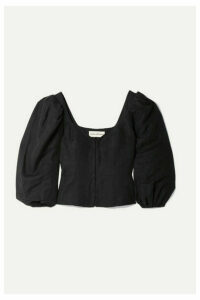 Mara Hoffman - Eliana Tencel And Linen-blend Blouse - Black