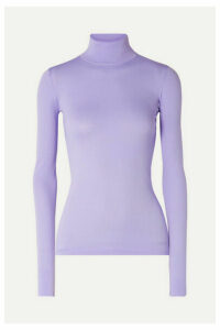 Les Rêveries - Stretch-knit Turtleneck Top - Lilac