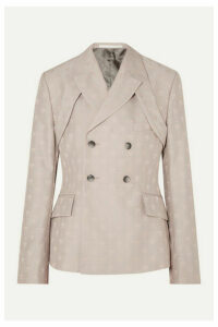 GmbH - Therebium Double-breasted Wool-blend Jacquard Blazer - Beige