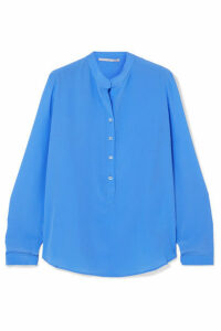 Stella McCartney - Eva Silk Crepe De Chine Blouse - Blue