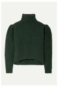 APIECE APART - Nicola Ribbed Alpaca-blend Turtleneck Sweater - Dark green