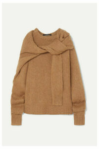 Rokh - Tie-front Knitted Sweater - Brown