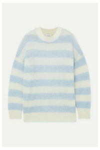 MUNTHE - Henrik Oversized Striped Knitted Sweater - Sky blue