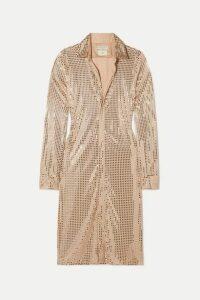 Bottega Veneta - Sequin-embellished Satin-jersey Midi Dress - Beige