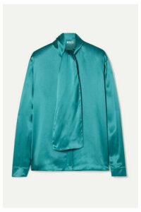 Balenciaga - Silk-satin Blouse - Turquoise