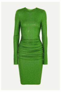 Alexandre Vauthier - Ruched Crystal-embellished Stretch-jersey Dress - Green