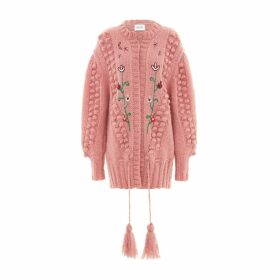 Hayley Menzies - Gloria Mohair Midi Cardigan Rose
