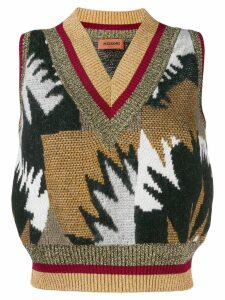 Missoni intarsia-knit vest - White