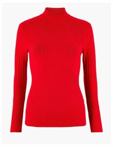 M&S Collection Ribbed Fitted Jumper