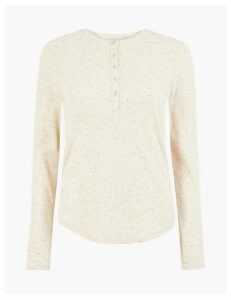 Per Una Textured Henley Long Sleeve Top
