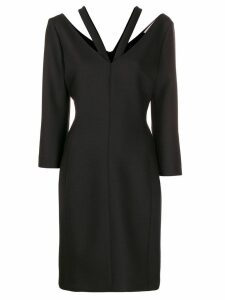Stella McCartney V-neck long-sleeved dress - Black
