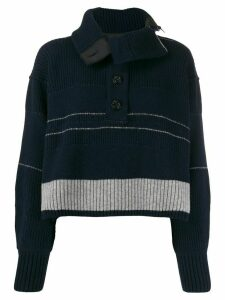 Sacai ribbed logo sweater - Blue