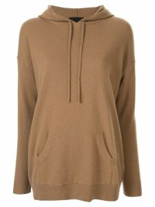 Nili Lotan cashmere relaxed-fit hoodie - Brown
