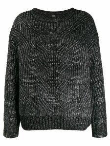 Steffen Schraut metallic ribbed-knit jumper - Black
