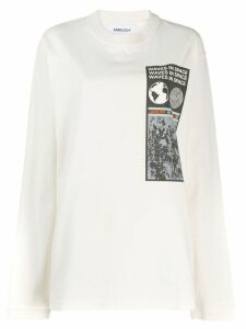 AMBUSH graphic print sweatshirt - White