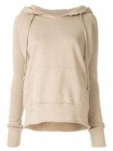 Nili Lotan distressed relaxed-fit hoodie - NEUTRALS