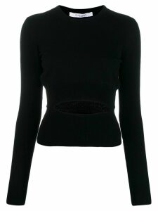Givenchy cut-out detail knitted sweater - Black