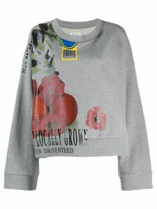 Maison Margiela packaging print sweatshirt - Grey