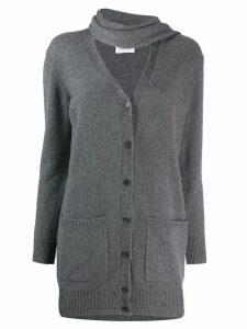 Salvatore Ferragamo cashmere scarf cardigan - Grey