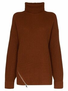 Tibi roll neck cashmere jumper - Brown