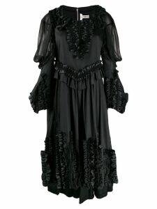 Comme Des Garçons appliqué ruffles dress - Black