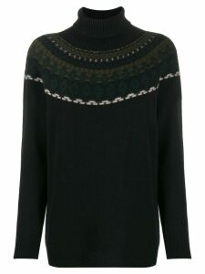Lamberto Losani intarsia knit sweater - Black