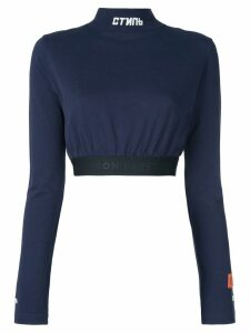 Heron Preston turtleneck cropped T-shirt - Blue