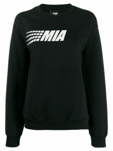 Mia-iam Big Puff logo sweatshirt - Black