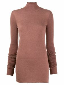 Rick Owens Lilies funnel neck sweater - PURPLE