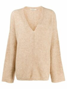 Mes Demoiselles loose v-neck jumper - NEUTRALS