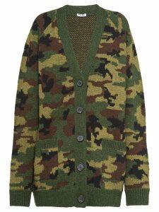 Miu Miu camouflage cardigan - Green