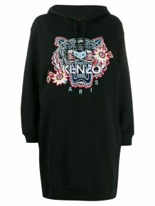 Kenzo logo-embroidered hoodie - Black