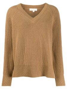 Michael Michael Kors v-neck jumper - Brown